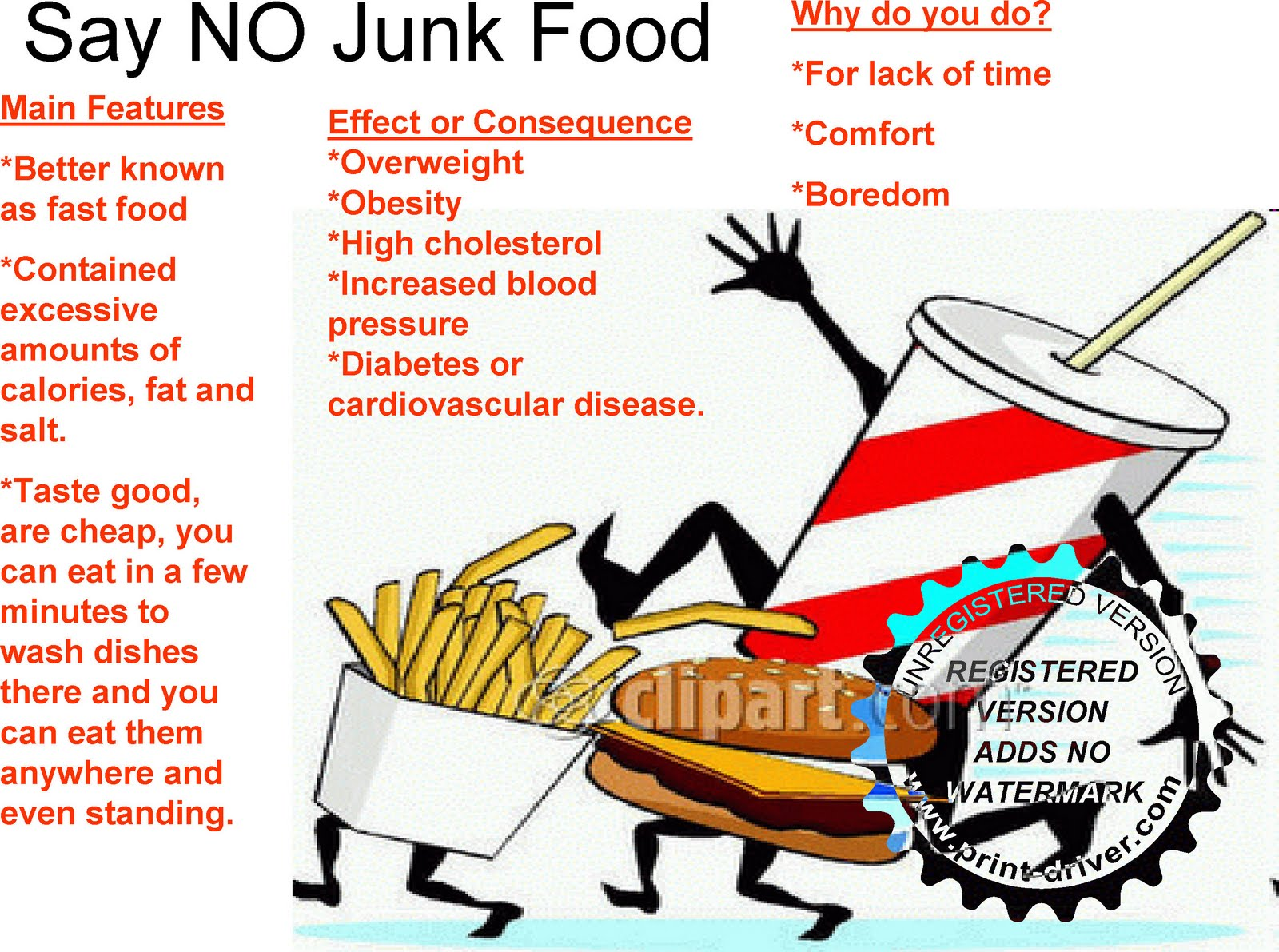 """say no to junk food While both wealthy and poor kids asked for junk food, the parents  for parents  raising their kids in poverty, having to say """"no"""" was a part of."""