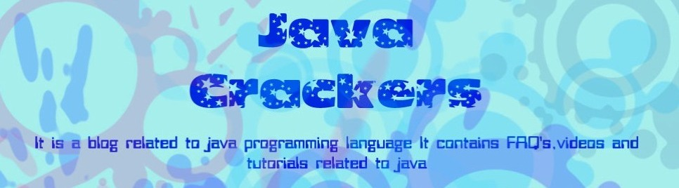 JAVA CRACKERS