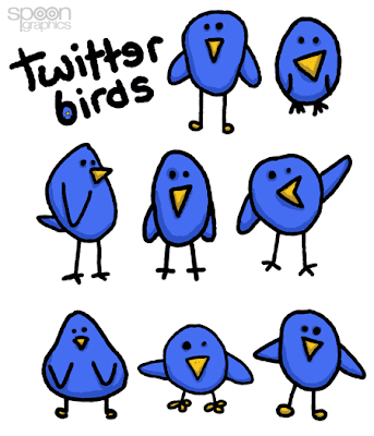 spoongraphics twitter birds, 400+ Beautiful Twitter Icons for your Website