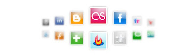 Glossy social bookmarking icons