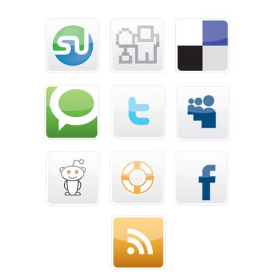 vector social bookmarking icon