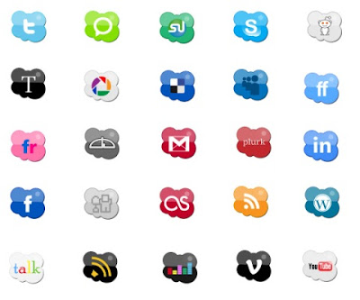 Web Social bookmarking icon set