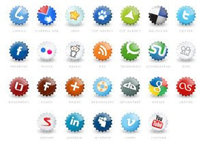 Extended set of social icons my Tydlinka