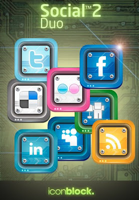 Social 2 Duo Social Bookmarking Icons by IconBlock 75 Beautiful Free Social Bookmarking Icon Sets