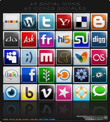65 Social Icons By Studio M6, 75 Beautiful Free Social Bookmarking Icon Sets