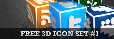 3d social bookmarking icons header, 75 Beautiful Free Social Bookmarking Icon Sets