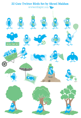 collagist twitter icons 350+ Fresh Twitter Icons
