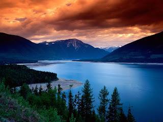 Lake View at Noon Nature HD Wallpaper