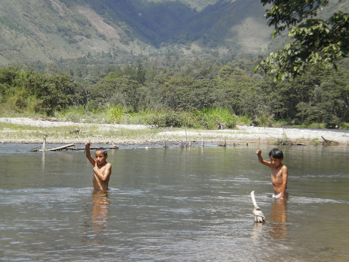 De pesca -río Chorobamba