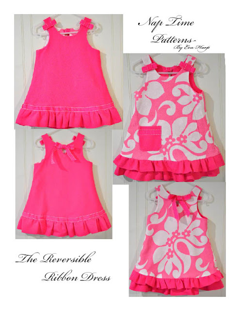 reversible ribbon dress sewing pattern