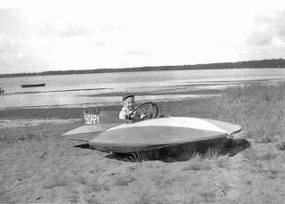 Vintage Hydroplane at Birch Lodge