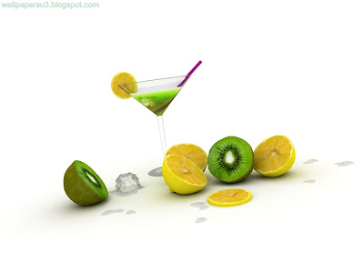 Mix Fruits 3D Standard Resolution Wallpaper
