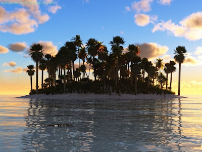 Island 3D Standard Resolution Wallpaper