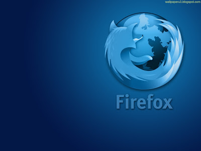 Firefox Light Blue Standard Resolution Wallpaper