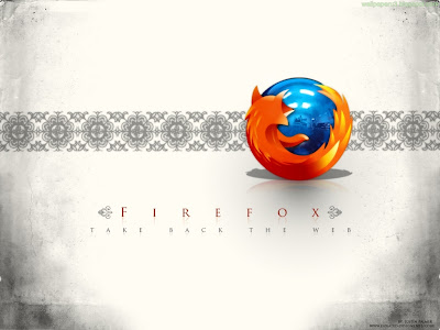 Firefox White Background Standard Resolution Wallpaper