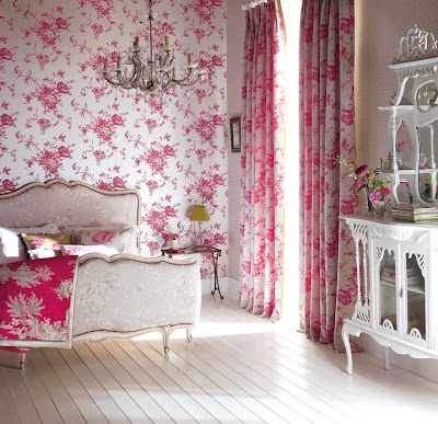 Curtains Ideas curtains matching wallpaper : Fabric Wallpaper: Matching Wallpaper And Fabric