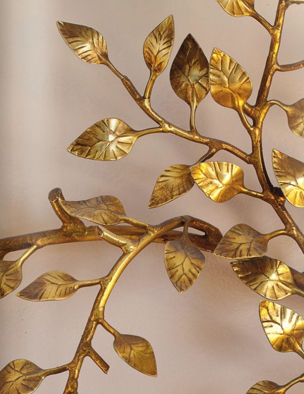 Cherish toronto simple gold leaf diy for Gold wall art