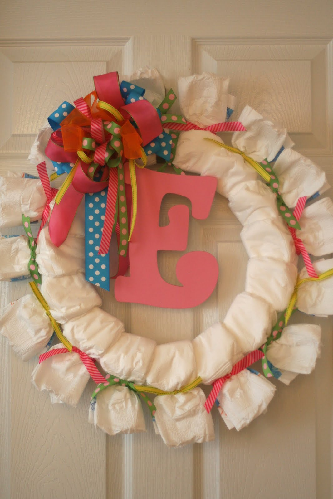 diaper wreath baby shower pinterest