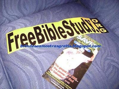 Brinde Gratis Adesivo Free Bible