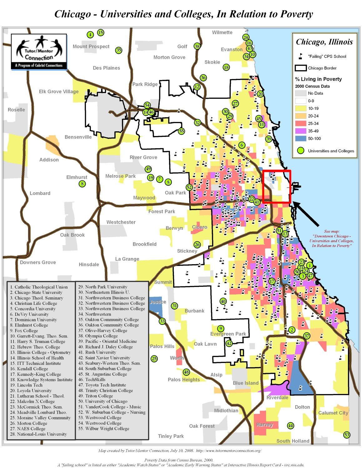 Chicago Zip Codes Map Charm City Circulator Map Map Of The Oceans