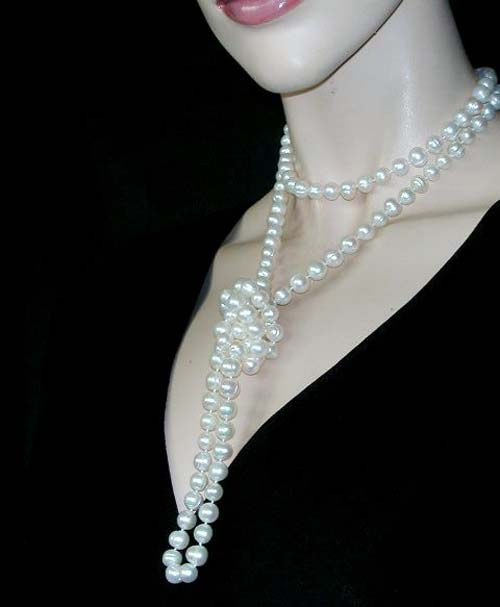 10 ways to wear long pearl necklace