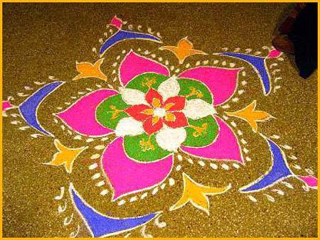 6 diwali decoration ideas for Door rangoli design images