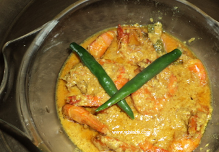 Prawns curry recipe