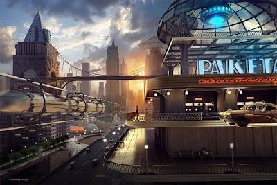 futuristic city!