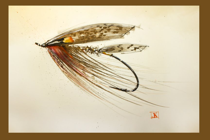 fly fishing drawing - photo #13