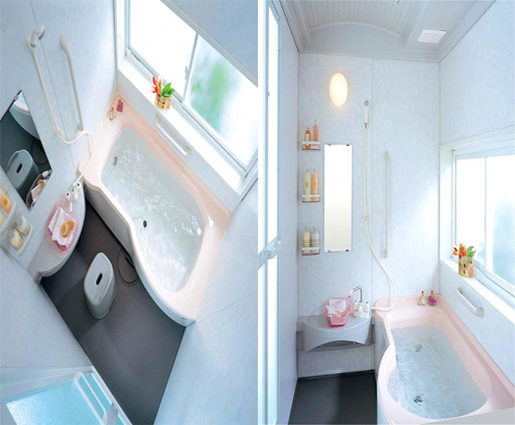 Japanese style bathroom home and interior design for Small japanese bathroom design