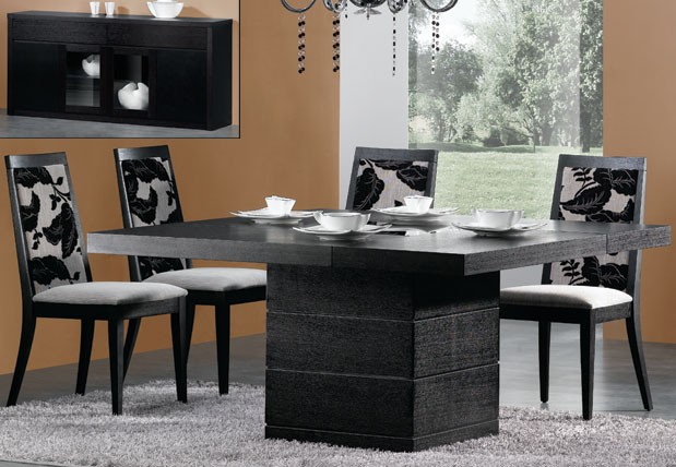Modern dining table home and interior design for Modern square dining room table
