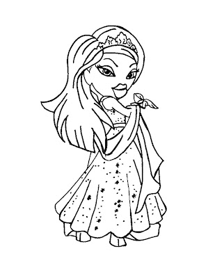 Coloring Pages Bratz Jade. Bratz Coloring Pages: December