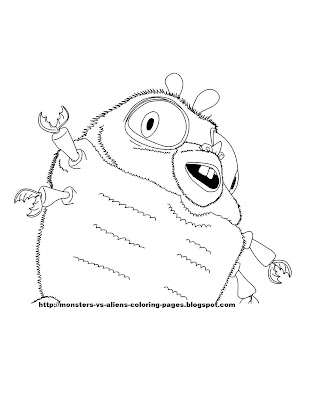 monsters vs aliens coloring pages