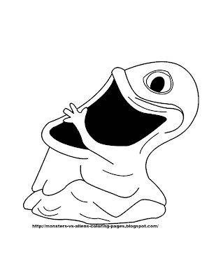 Monsters Vs. Aliens Coloring Pages