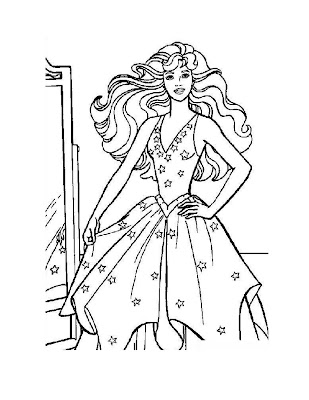 barbie coloring pages for kids. This coloring page features