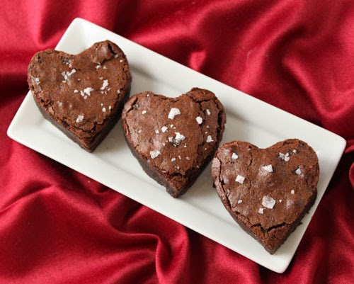 Cake or Death?: Salted Fudge Brownies: Happy Valentine's Day to YOU
