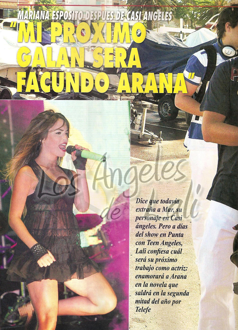Los angeles de lali lali en revista pronto for Revista pronto primicias ya