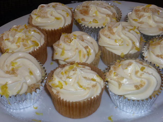 Admire Your Optimism: Lemon Ginger Cupcakes with Lemon Cream Cheese ...