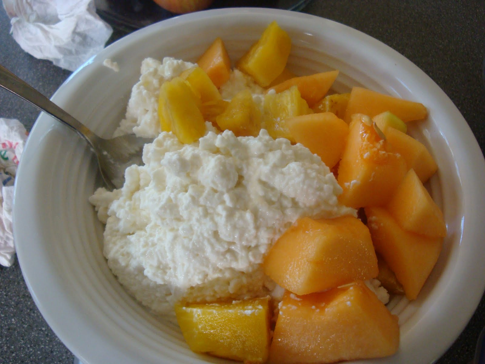 My Friend Had Been Talking About Peaches And Cottage Cheese That I Brought For Lunch Saw Where He Was Coming From An Observer Might Lose His