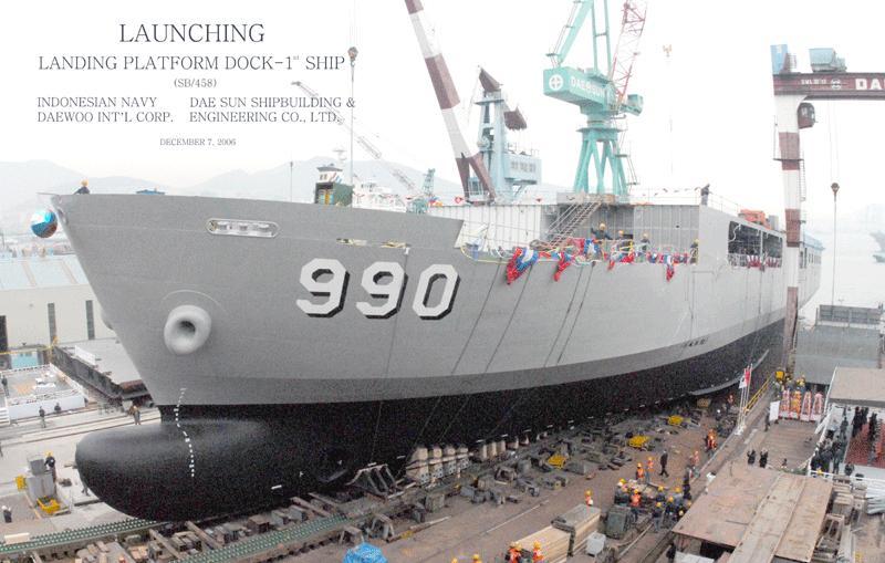 , Indonesia berhasil memproduksi kapal perang sendiri. Kapal perang ...