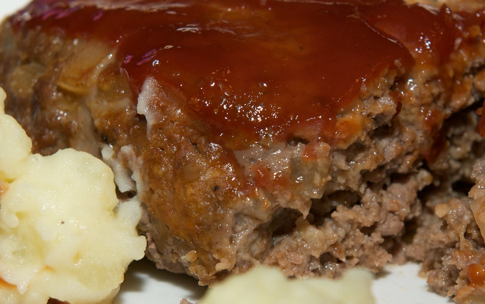 Monday's meatloaf and buttermilk mashed potatoes were quite delicious ...