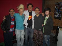 Flávio Terêncio, Luciano Feitosa, Eu, Osvaldo Barros e Diego Paiva