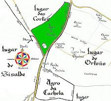 Cartografía dos lugares da parroquia de Ortoño