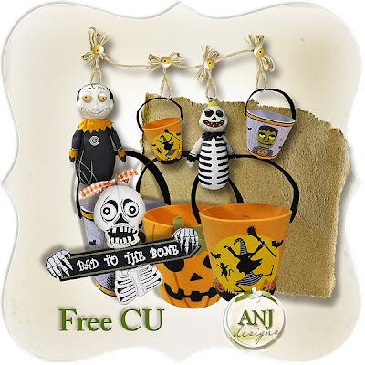Halloween Elements Embellishments Free+CU_HL_prev