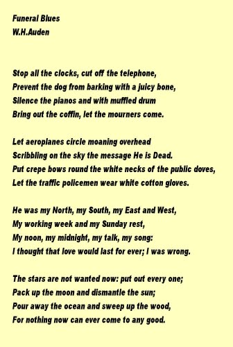 Funeral Poems Verses Free To Use