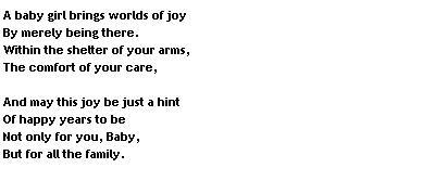Cute Baby Girl Poems
