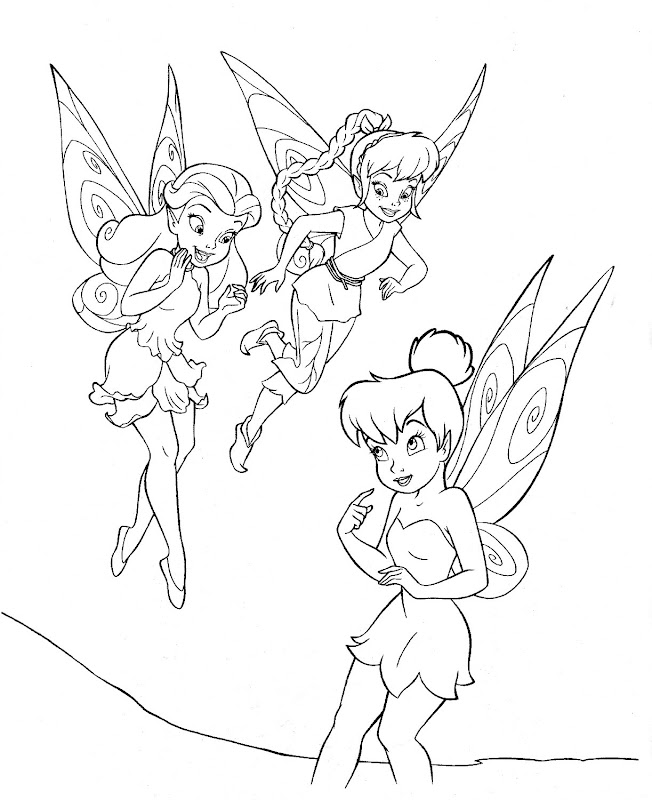 tinkerbell and friends coloring pages title=