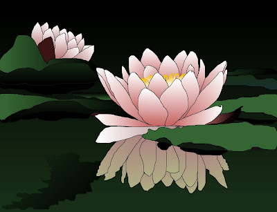 Water Lily Drawing