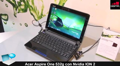 Acer Aspire One 532G Featured NVidia ION 2