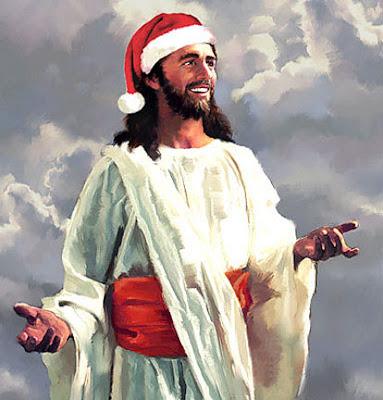 santajesusjpg - Jesus And Santa